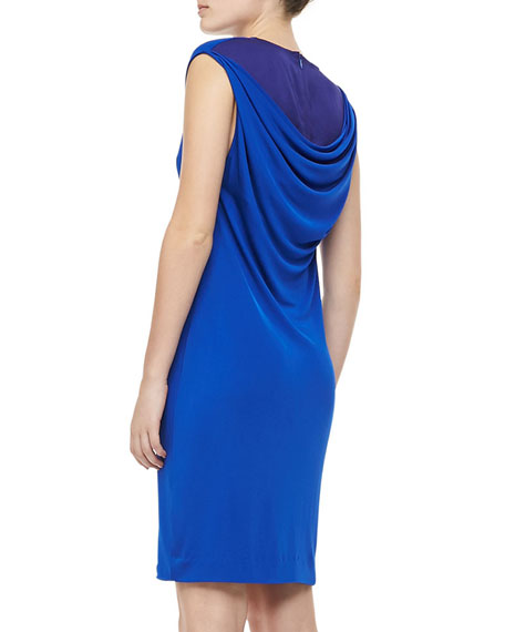 Sleeveless Slim Jersey Dress, Royal Blue
