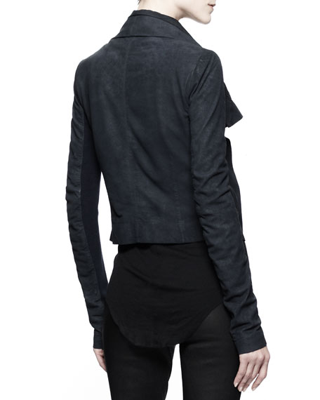Classic Lambskin Biker Jacket, Black