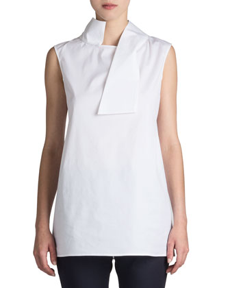 Jil Sander Rock Asymmetric-Collar Blouse