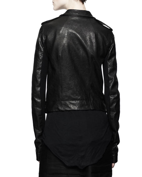 Stooges Multi-Zip Leather Jacket, Black