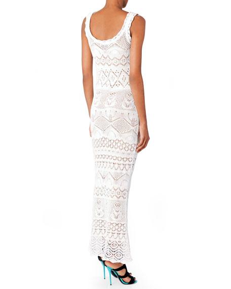 Empire-Waist Crochet Maxi Dress