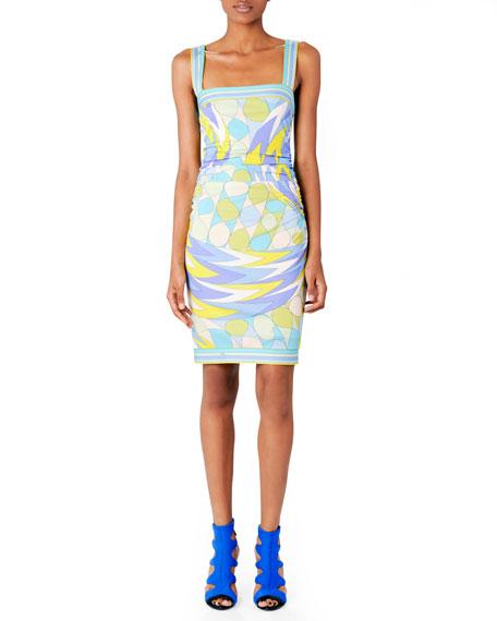 Printed Square-Neck Dress