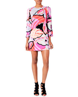 Emilio Pucci Printed Georgette Shift Dress