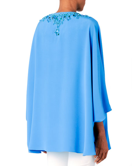 Short Beaded Silk Caftan
