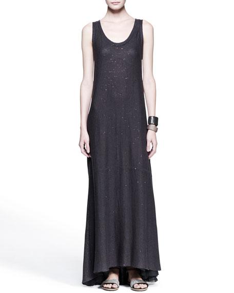 Paillette Knit Maxi Dress