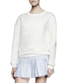 Alexander Wang Parental Advisory Knit Sweatshirt