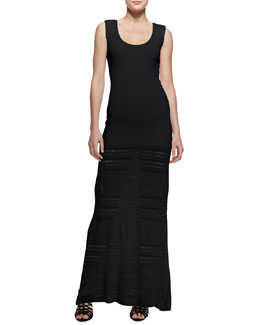 Zac Posen Pointelle-Knit Maxi Dress