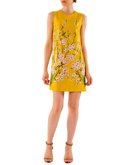 Dolce & Gabbana Floral Blossom Printed Mini Shift Dress