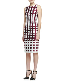 Carolina Herrera Gradual Squares Jacquard Dress