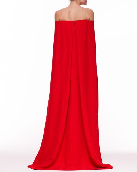 Ralph Lauren Collection Audrey Cape Evening Gown