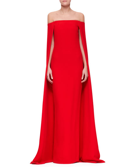 Audrey Cape Evening Gown