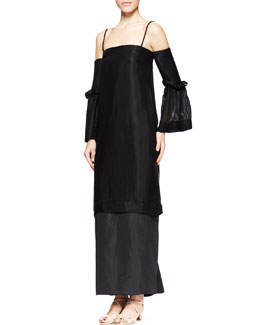 THE ROW Kiraka Off-Shoulder Long Dress