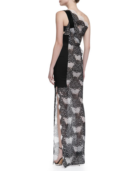 Larch One-Shoulder Lace Gown