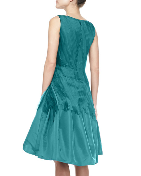 A-Line Cocktail Dress with Chiffon Ribbons