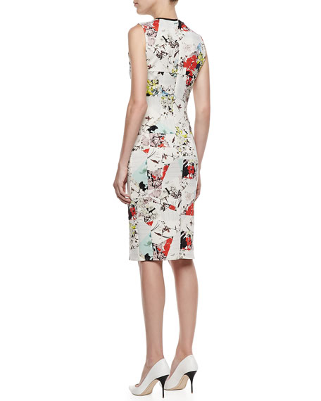 Maura Fitted Floral Patchwork Dress