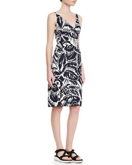 Marc Jacobs Sleeveless V-Neck Sheath Dress, Navy