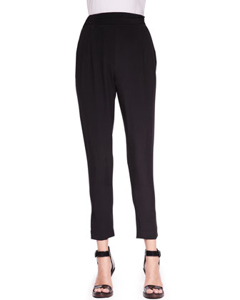 Slim Draped Pocket Trousers