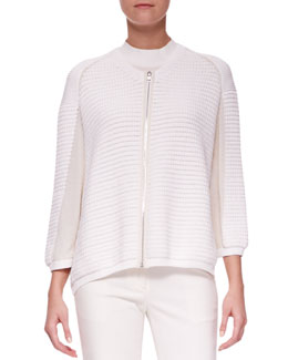 3.1 Phillip Lim Zip-Up Paneled Cardigan