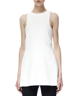 Alexander McQueen Sleeveless Halter Tank Top, White