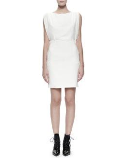 Saint Laurent Flutter-Side Keyhole Dress