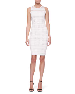 Narciso Rodriguez Sleeveless Transparent Sheath Dress, White