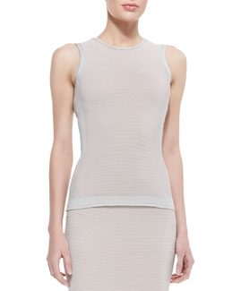 Narciso Rodriguez Paneled Cutout-Back Top