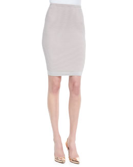 Narciso Rodriguez Fitted Paneled Knit Skirt
