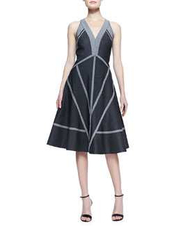 Donna Karan Denim Dress with Exposed Seams