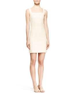 THE ROW Gwenna Fitted Leather Dress, Cord