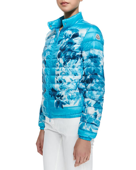 Printed High-Neck Puffer Jacket