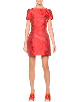 Fendi Broken Lines Fil Coupe Dress