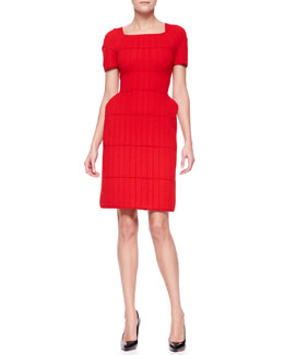 Fendi Exaggerated-Hip Knit Dress