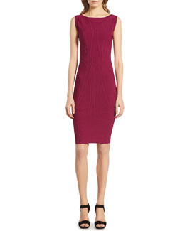 Gucci Fuchsia Stretch Viscose Jacquard Dress