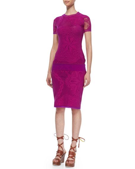 Lace & Crochet Tulle-Trim Skirt