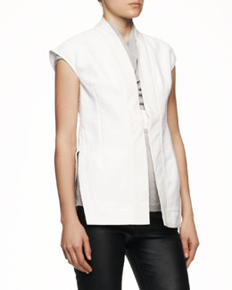 Rick Owens Cap-Sleeve Beach Jacket