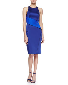 Dion Lee Belted Satin Crossover Dress