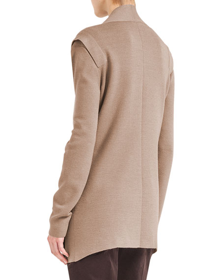 Long Fluid Knit Cardigan