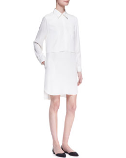3.1 Phillip Lim Long-Sleeve Double-Layer Shirtdress