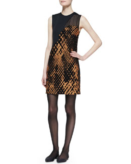 3.1 Phillip Lim Sleeveless Patchwork Shift Dress