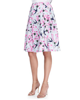 Carolina Herrera Sparrow, Love Letter & Floral-Print Party Skirt