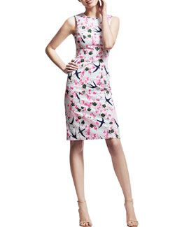 Carolina Herrera Love Letters Sheath Dress