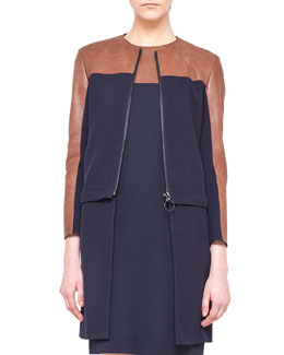 Akris punto Detachable-Bottom Combo Coat