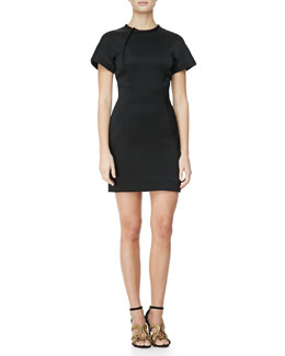 Alexander Wang Sculpted T-Shirt Dress, Raven Black