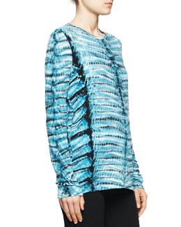 Proenza Schouler Jersey Tie-Dye Tissue Top