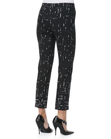 Broken Stripes Straight-Leg Pants