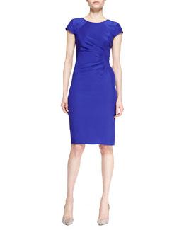 Armani Collezioni Cady Cap-Sleeve Dress