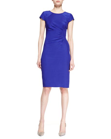 Cady Cap-Sleeve Dress