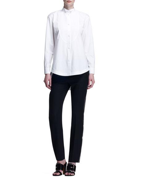 Side-Zipper Wool Pants