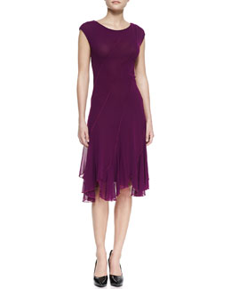 Jean Paul Gaultier Bias Seamed Magenta Dress, Plum