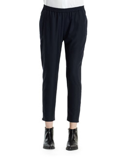 Relaxed Tapered Pants with Elastic Waist